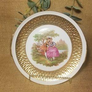 Vintage Bavarian Victorian Plate 22k Gold